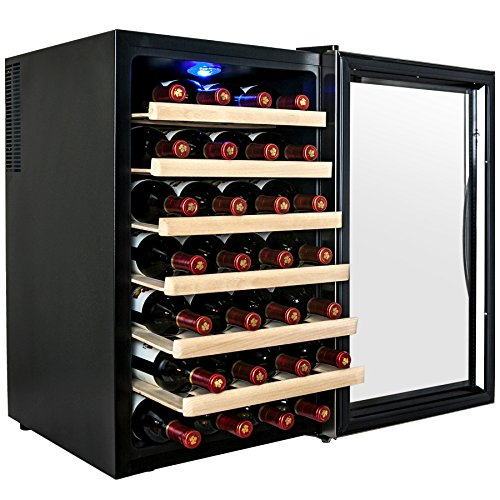 AKDY 28 Bottle Single Zone Thermoelectric Freestanding Wine Cooler Cellar...