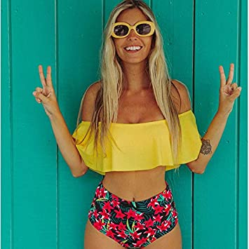 GUOQUNUP Falda De Playa Bikinis De Cintura Alta New INT Traje De ...
