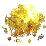 7Colors 300pcs Heart Sequin Wedding Celebration Party Decorative Table Scatters Confetti Supplies(#6)