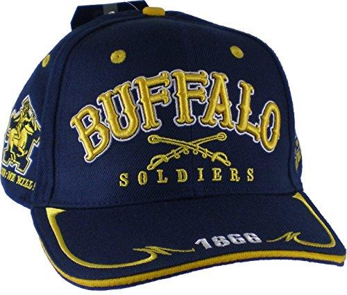 Big Boy Buffalo Soldiers Commemorative Mens Cap [Navy Blue - Adjustable]