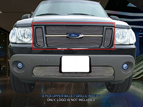(Fedar Main Upper Overlay Billet Grille Insert for Compatible With 2001-2003 Ford Explorer Sport/Sport Trac)