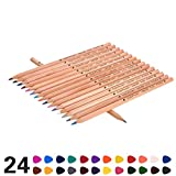 Kakbpe Wooden Colored Pencils, TOP 24-Color Set for Adults and Kids/Vibrant Colors,Drawing Pencils for Sketch, Arts, Coloring Books ...