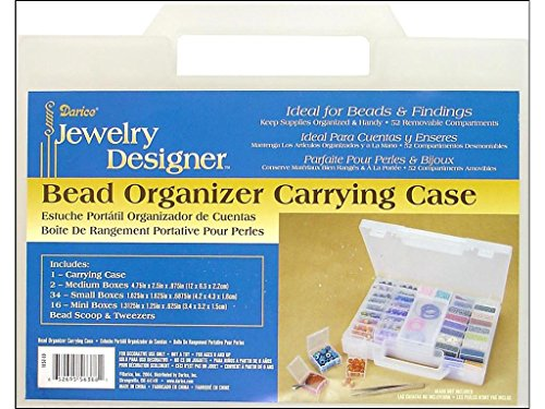 Darice Bead Organizer Carrying Case, 7.5 by 10-Inch -