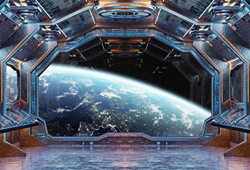 Yeele 10x8ft Space Photography Background Spaceship Grunge Interior