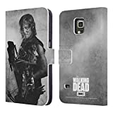 Official AMC The Walking Dead Daryl Double Exposure Leather Book Wallet Case Cover For Samsung Galaxy S5 Active