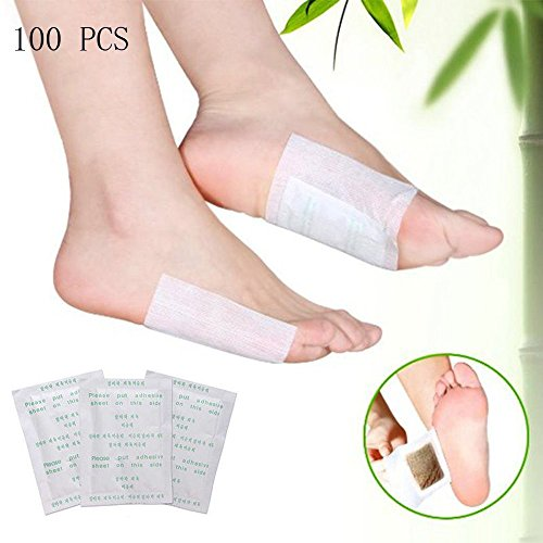 Foot Pads, scenstar 100 Relief Foot Padswith 100 Adhesive Sheets for Relieving Tired Foot Pads,Foot Health