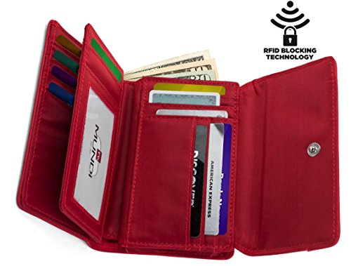 mundi-small-womens-rfid-blocking-wallet-trifold-safe-blocking-protection-change-purse-rasberry
