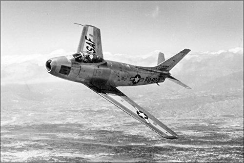 24x36 Poster . North American F-86F Sabre Jet, 1953 F-86 Saber