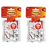 COMMAND Wire Hooks, 18 Pieces, Indoor White, Holds .5 Lbs.,18 Small Hooks