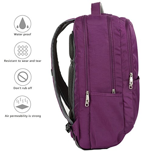 Purple Purple Men's Lightweight Resistant Travel Bag Women 17 Backpacks Inch for College Computer Water OIWAS Laptop Backpack Business Laptop 5TqXTwU
