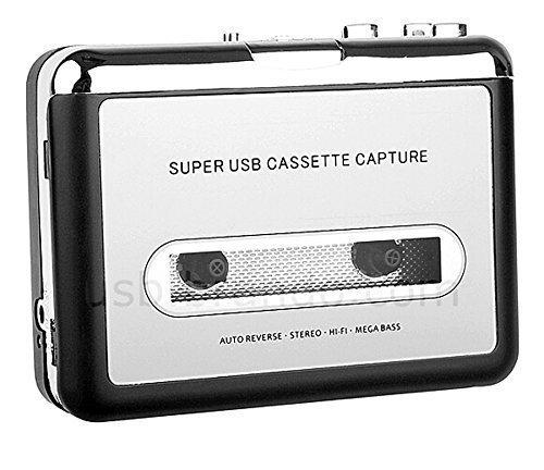 Cfzc Handy Portable Bande pour PC Super USB Cassette-to-mp3Converter avec câble USB, écouteurs pour lecteur et de logiciels