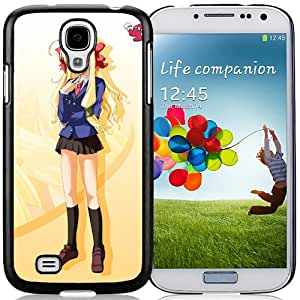 Popular And Unique Designed Cover Case For Samsung Galaxy S4 I9500 i337 M919 i545 r970 l720 With Girl Blonde Cute Posture Background black Phone Case