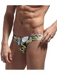 Fashionable Novel Printed Briefs Swimsuit Men's Bikini Underwear 1136