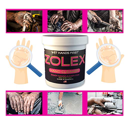 Zolex Water Activated Hand Cleaner and Grease Remover - Stain Remover for Mechanics| Non-Toxic, Petroleum-Free | EZ Carry 3/4 lb Jar (Pack of 8) by Zolex (Image #1)