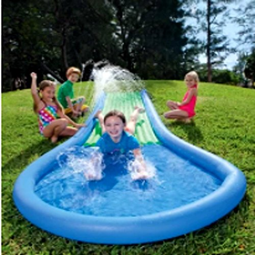Water Slide Tubes - Toy Water Sprinkler System Slide, Wiggling Outside Slide with Sprinklers for Boys and Girls, Outdoor Youth Water Slide & E-Book