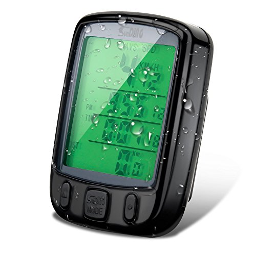 Vikeepro Bike Computer, Multi Function Wireless Bicycle Speedometer,Cycling Odometer with Large LCD Screen Display and Accessible Separated Button
