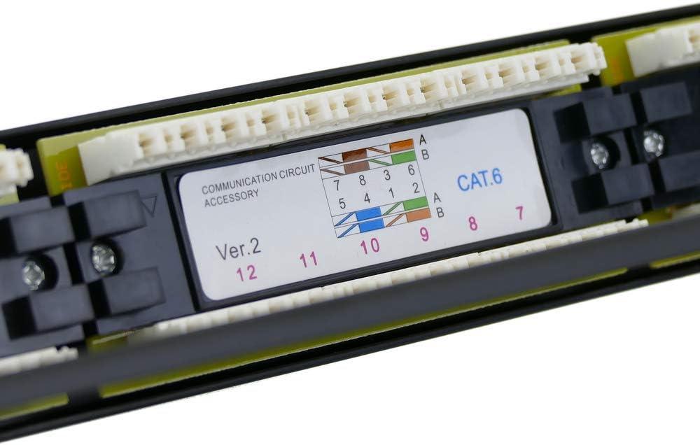 RackMatic Panneau de Brassage Patch Panel 24 x RJ45 UTP Cat.6 1Gb Ethernet