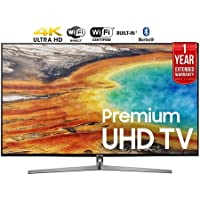 Samsung UN75MU9000FXZA 74.5 4K Ultra HD Smart LED TV (2017 Model) + 1 Year Extended Warranty (Certified Refurbished)