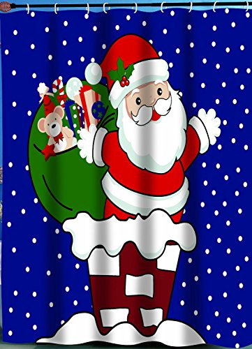 Happy Santa Fabric Shower Curtain - 72