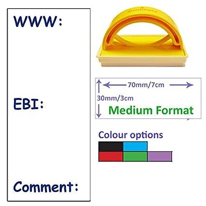 Große WWW/EBI/Comment Schule Stempel–30x 70mm. Wahl der Tinte Farbe blau