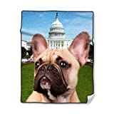 Personalized Picture Blankets and Throws-French Bulldog Dog,50X60 Inch