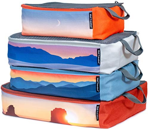 Well Traveled 4-Piece Packing Cubes Set - Luggage Organizer for Travel Accessories