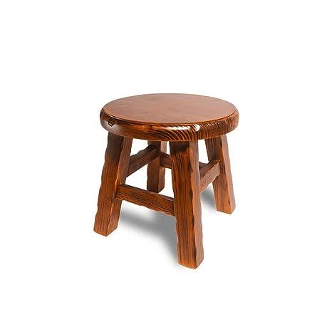 Admirable Amazon Com Wooden Stool Household Indoor Small Low Stool Customarchery Wood Chair Design Ideas Customarcherynet