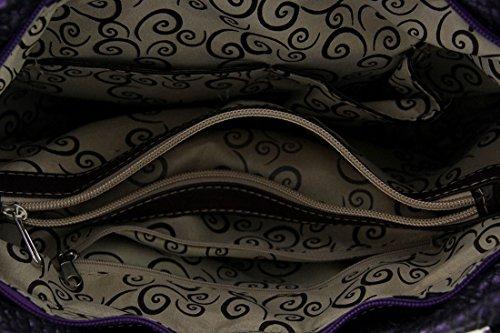 Zeckos, Borsa a spalla donna viola Purple