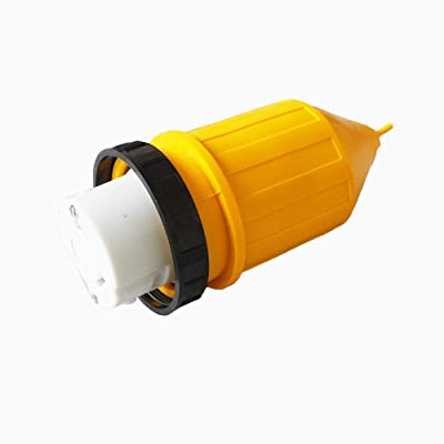 X-Haibei RV 50A 125V 250V AC Female Locking Connector Plug with Replaceable Boot Ring: Automotive