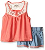 Lucky Brand Little Girls' Janie Lace Set, Sugar Coral, 6