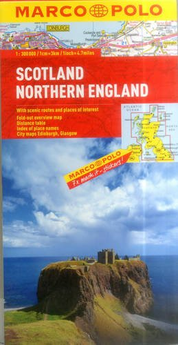 Scotland Northern England Marco Polo Map  Marco Polo Maps