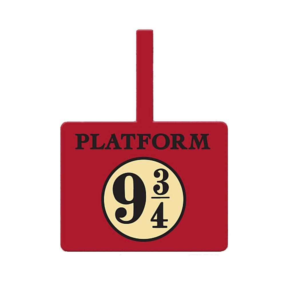 Pritties Accessories V/éritable /étiquette de Bagage en Caoutchouc PVC de la Plate-Forme Harry Potter Plate-Forme 9 3//4 /à Poudlard
