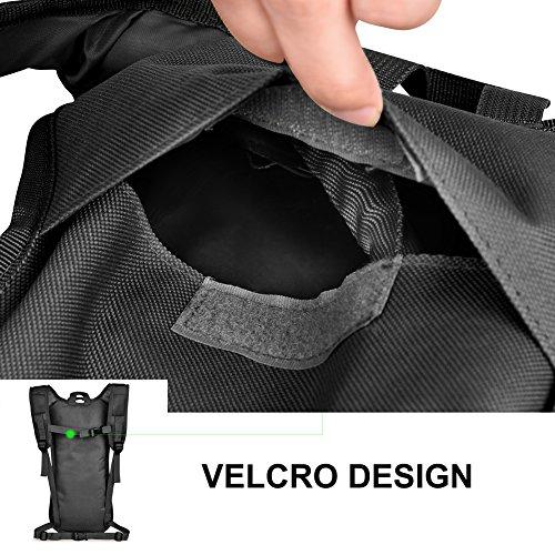Vbiger Wasserdichter Trinkrucksack Fahrradrucksack Leichtgewicht Trinkrucksack für Wandern, Radfahren, Laufen und Klettern Schwarz 2 (mit Trinkblase 2,5l)