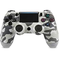 Wireless Controller for PS4,Dualshock Wireless Gamepad with 3.5mm Jack & Touch Panel for Playstation 4/Playstation 3/Windows PC(Third-Part Product), Gray Camouflage