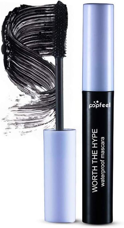 DOLDOA - Máscara de fibra de seda 4D, impermeable, color negro ...