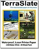 "TerraSlate Paper 4 MIL Waterproof Laser Printer/Copy Paper 8.5"" x 11"" 25 Sheets"