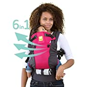 SIX-Position, 360° Ergonomic Baby & Child Carrier by LILLEbaby – The COMPLETE All Seasons (Charcoal/Berry)