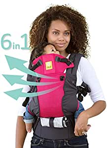 SIX-Position, 360° Ergonomic Baby & Child Carrier by LILLEbaby - The COMPLETE All Seasons (Charcoal/Berry)