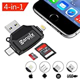 Micro SD Card Reader for iPhone/iPad/Android Phone/Macbook/Computer,Memory Card Adapter with Lightning,Type C,Micro USB, USB,Picture and Video Viewer for Camera by Danpix