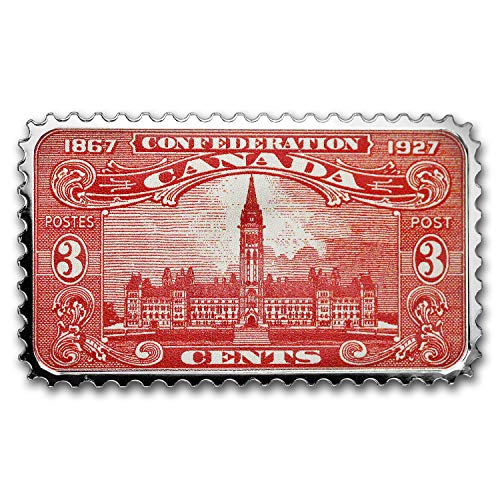 2018 CA Canada Silver $20 Historical Stamps: Parliament Building 1 OZ Brilliant Uncirculated