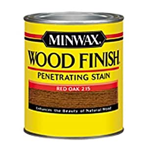 Minwax 221504444 Wood Finish Penetrating Interior Wood Stain, 1/2 pint, Red Oak