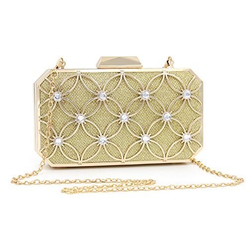 Clutch Women Evening Luxury Golden Designer Bags Wedding Beaded Fashion Diamond Crystal Gold Banquet Bridal wRwXfxqP