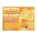 Emergen-C Tangerine, 1000mg Vitamin C / Electrolytes / B Vitamins, 30 Packets/Sachets