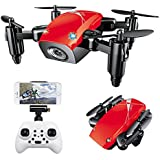 Beyondsky S9 HW Foldable RC Drone 2.4Ghz 6-Axis Gyro Altitude Hold Mini Pocket RC Quadcopter FPV with WIFI HD 720P Camera - Red