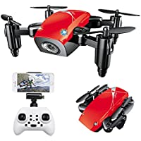 Beyondsky S9HW Mini WIFI Pocket Drone with HD Camera - Red