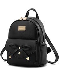 Cute Mini Leather Backpack Fashion Small Daypacks Purse...