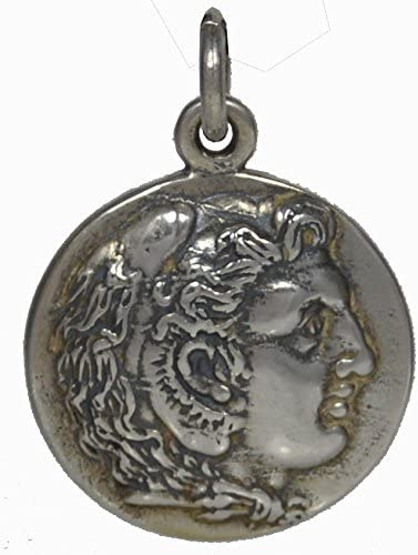 Alexander The Great Hercules Silver Coin Pendant-Macedonia King Amphipolis Coin