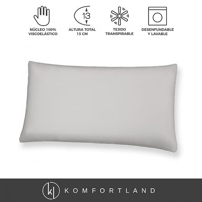Komfortland Almohada 2 uds de 70 cm viscoelástica Visco One: Amazon.es: Juguetes y juegos