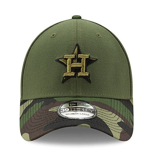6ed52f292ff Houston Astros New Era 2017 Memorial Day 39THIRTY Flex Hat - Green Camo