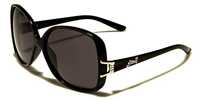 Giselle Polarized Butterfly Oval Oversized Women Sunglasses Shades UV400  Protection Free VIBRANT HUT Pouch (BLACK 91b65ad00